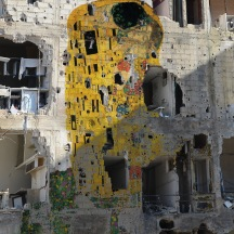 Syrian Museum - Klimt, Freedom Graffiti